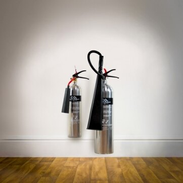 Image of the Polished Aluminium CO2 Fire Extinguishers